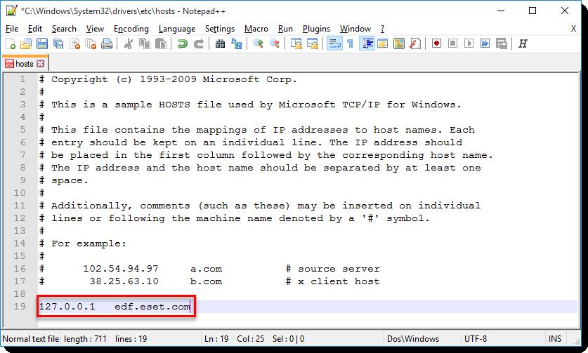 فایل hosts و مشکلات برنامه نود 32
