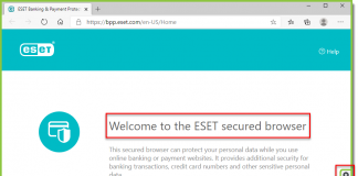 ابزار eset banking protection